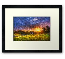 Modern Landscape Van Gogh Style Framed Print