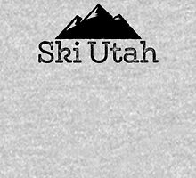 Ski Utah Vintage Mountain Design T-Shirt