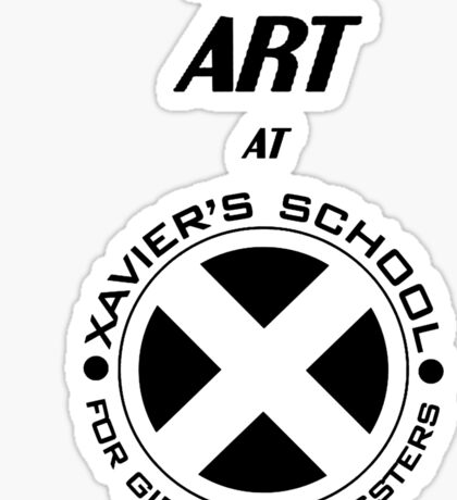 I Teach Art at Xavier's School for Gifted Youngsters Sticker