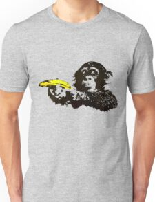 Monkey To Banana guns Unisex T-Shirt