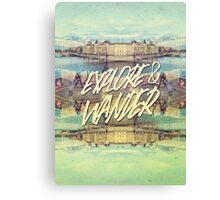 Explore & Wander Seine River Louvre Paris France Canvas Print