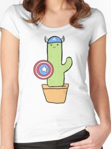 Cactus America Women's Fitted Scoop T-Shirt