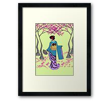 Among the Cherry Blossoms Framed Print