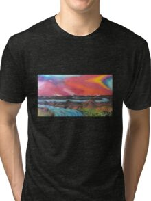 Tranquil Sunset Over Water Tri-blend T-Shirt