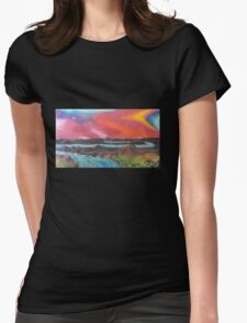 Tranquil Sunset Over Water Womens Fitted T-Shirt