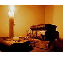 The Word By Candle Light Photographic Print