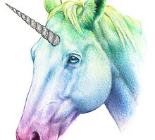 Rainbow Unicorn by Kim Dingwall