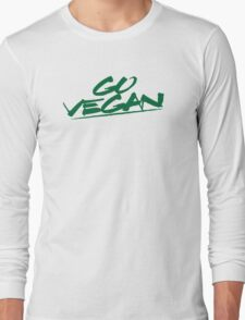 Go Vegan Green Logo Long Sleeve T-Shirt
