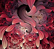 Rooster Abstract Art by Georgiana Romanovna