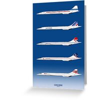 Concorde 1969 To 2003 Greeting Card