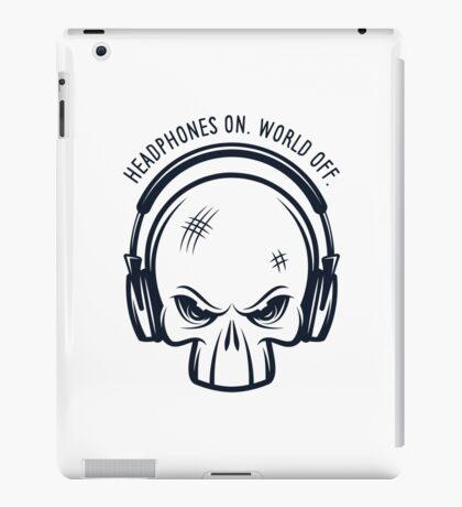Skull and Headphones iPad Case/Skin