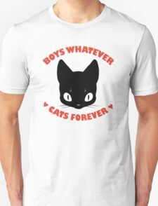 BOYS WHATEVER, CATS FOREVER T-Shirt