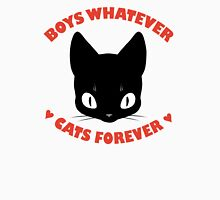 BOYS WHATEVER, CATS FOREVER Women's Fitted Scoop T-Shirt