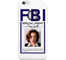 Dana Scully Badge iPhone Case/Skin