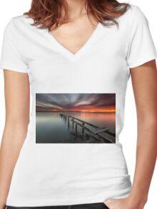 Dusk & Delapidation - Cleveland Qld Australia Women's Fitted V-Neck T-Shirt