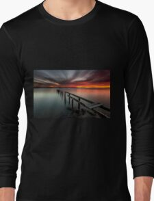 Dusk & Delapidation - Cleveland Qld Australia Long Sleeve T-Shirt