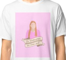 On Wednesdays We Wear Pink Hipster | Pale Pink Classic T-Shirt