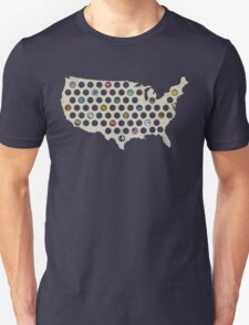 Beer Cap Map USA Semi T-Shirt