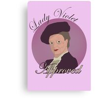 Lady Violet Approved Canvas Print
