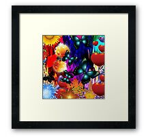 Dark blue Butterflies Framed Print