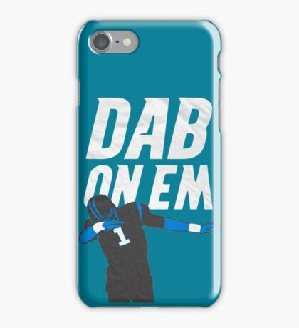 Cam Newton 'Dab On Em'  iPhone Case/Skin