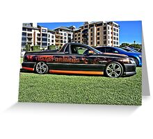 Holden Commodore Utility with Transformers wrap. Greeting Card