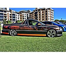 Holden Commodore Utility with Transformers wrap. Photographic Print