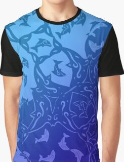 Dolphin Pattern Graphic T-Shirt
