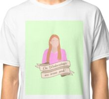 On Wednesdays We Wear Pink Hipster | Pale Green Classic T-Shirt
