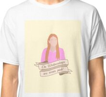 On Wednesdays We Wear Pink Hipster | Pale Yellow Classic T-Shirt