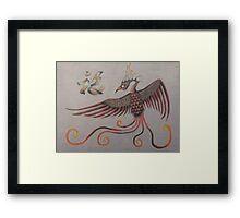 Feng Shui Phoenix Framed Print