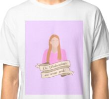 On Wednesdays We Wear Pink Hipster | Pale Purple Classic T-Shirt