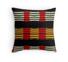 Curvy blinds Throw Pillow