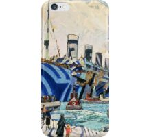 Olympic with Returned Soldiers in dazzle at Halifax, Nova Scotia  iPhone Case/Skin