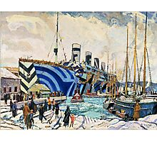 Olympic with Returned Soldiers in dazzle at Halifax, Nova Scotia  Photographic Print