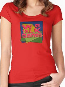 We Talk Games Angular Retro Women's Fitted Scoop T-Shirt