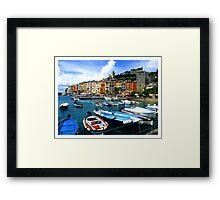 Cinque Terre - Italian Boats Framed Print