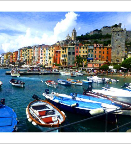 Cinque Terre - Italian Boats Sticker