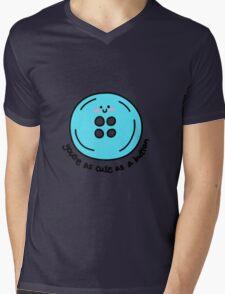 Cute as a button (blue) Mens V-Neck T-Shirt