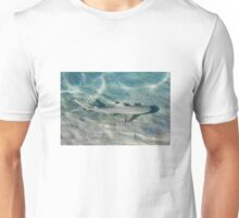 Blacktip reef shark (Carcarhinus melanopterus) swims in shallow waters Unisex T-Shirt