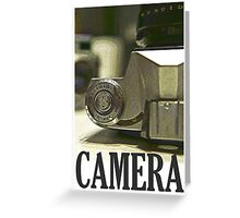 Vintage SLR Film Camera Greeting Card