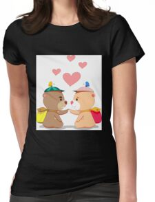 Bear touch Womens Fitted T-Shirt