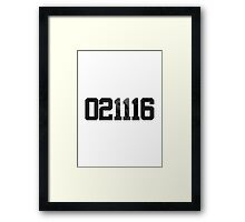 02/11/16 SWISH Framed Print