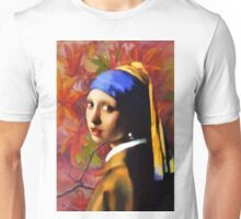 A Girl With A Pearl In Autumn Unisex T-Shirt