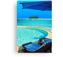 The Maldives - romantic atoll island paradise with luxury resort  Canvas Print