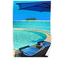 The Maldives - romantic atoll island paradise with luxury resort  Poster