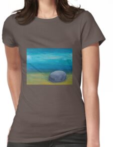 Serenity and Stillness Womens Fitted T-Shirt