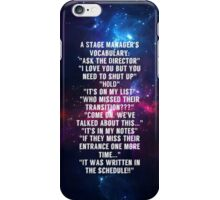 stage manager vocab iPhone Case/Skin