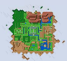 Hyrule Map Light Legend of Zelda ALttP by kebuenowilly