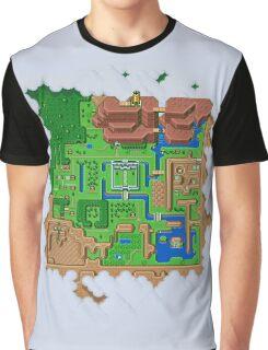 Hyrule Map Light Legend of Zelda ALttP Graphic T-Shirt